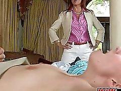 Jessie Volt anal 3way with stepmom Syren