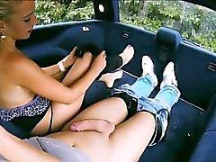 Big boobs blondie teen Jessie Sinclair screwed up in the car