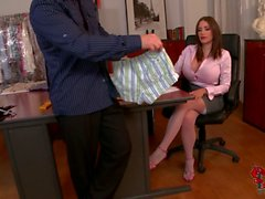Big breasted office seductress Clanddi Jinkcego