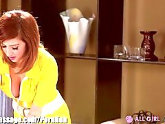 AllGirlMassage Dillion Harper and April O'Neil pantografo