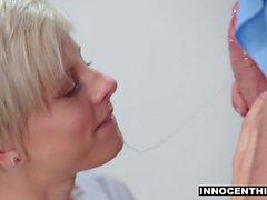 InnocentHigh - Cute Blonde Teen Opens Up For Teacher