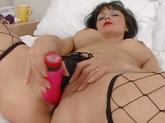 Milf Barbie Stroker Fishnets and dildo
