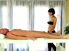 Sexy massesuse Coco blowjob and cum facialed under the table