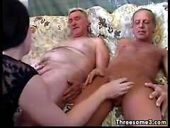 Young Girl With Old Perverts In A Threesome
