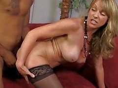 Busty cougar pounded by an ebony dude