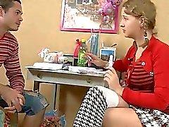 Teen cornea fottuto la sua insegnante