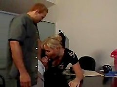 Beautiful MILF shoots on office table to seduce boss