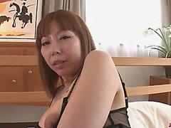 Minami Kitagawas shaved asian creampie in POV