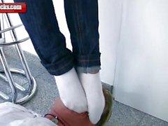 sock smelling session