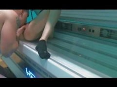 miss kiss tanning booth fuck
