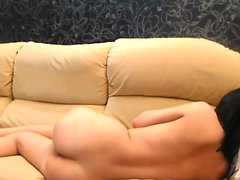 Adorable brunette camgirl exposes her sexy slender body on
