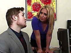 Blonde Heather Strips A Stud