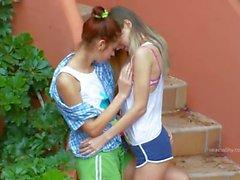 Romantic lesbo adventure from italia