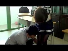 Chinese schoolgirl bound and gagged