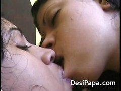 Passionate Indian Lesbians Kissing