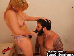 Bearded cadela Menino Anal Pegging Leite Tit Squirt
