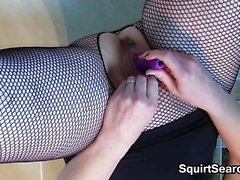 Horny Woman Pleasing Pussy With A Toy