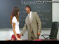 Alliyah Sky sucks off her teacher