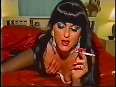 mature lady long nails smoking