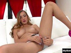 Victoria Rae Black is a sweet, long dark haired blonde teen,