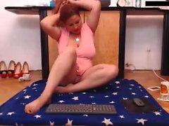 Silly amateur party webcam
