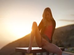 Sunset in Malibu in art stripping movie