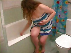 Fat BBW Ex GF , duş almak , tıraş bacaklar ve Pussy