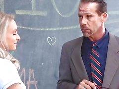 Teacher Breaks Up Girly Fight & Fucks Them Both