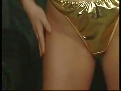 shiny gold lingerie