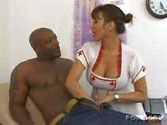 horny nurse enjoys black meat!!!!