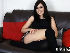 British Girl Filmed Masturbating On A Couch