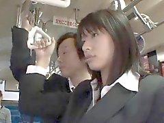 Hana Haruna asiatischen erwischt den Ball Hunde ficken im Bushalte