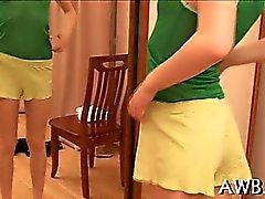 Kinky teasing of puffy nipples