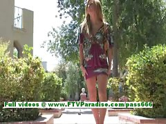 Leslie sensual blonde teenage fingering pussy outdoor