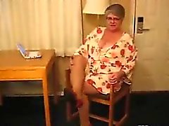 Fet mormors Slitage strumpbyxor