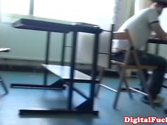 Babe Taissia Shanti pounded in the classroom