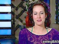Orgia furiosa si svolge nella XXX swingers reality show di
