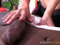 Katrina Jade Takes A Black Cock On A Massage Table