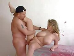 Busty blonde Ronda Moon gets fucked and sucks his cock deep