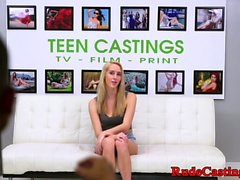 Real teen squirting and fucking at casting
