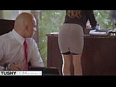 Submissive secretary punished and sodomised