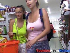 Euro teen masturbating