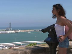 Bitches Abroad - Hot Italian babe enjoys hard fuck abroad