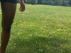 Incroyable Fit Bubble Butt Ebony Ados en Spandex Shorts Candid