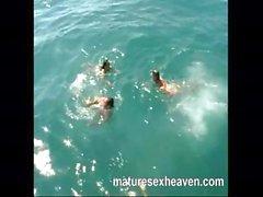 Kinky perverted deviants do some nasty deeds on a big yacht