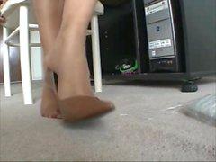 Ebony Sexy Legs In Office