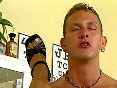 German flexible blonde milf fucked on the floor