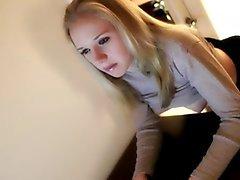 blonde spanked