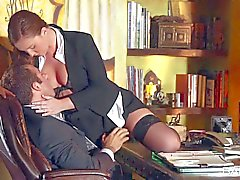 Sexy secretary Maddy Oreilly turns her boss on