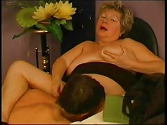 BBW Granny Teacher Fucks Student